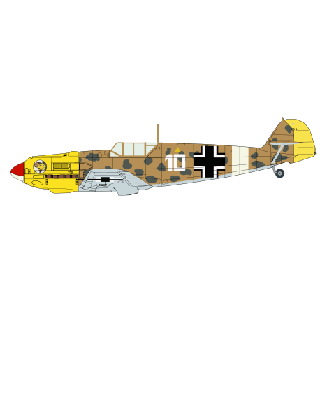 Bf109E7 print ready