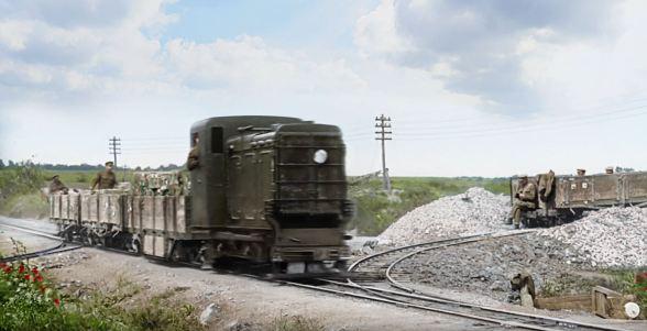 petrol light train